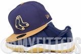 Boston Red Sox Collegiate Navy Wheat Toast Air Jordan XI Low Gum Bottom New Era Fitted Cap