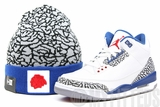 "Chicago Blackhawks Elephant Print True Blue Match Air Jordan III ""True Blue"" Hook New Era Winter Skully"