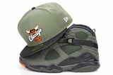 "Chicago Bulls Army Olive Jet Black Orangeade Air Jordan VIII ""Sequoia"" New Era Fitted Cap"