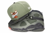 "Chicago Bulls Army Olive Jet Black Orangeade Air Jordan VIII ""Sequoia"" New Era Snapback"