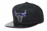 "Chicago Bulls Black and Patent Leather Concord Air Jordan XI ""Space Jam"" OG Mitchell & Ness Snapback"