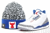 "Chicago Bulls Elephant Print True Blue Match Air Jordan III ""True Blue"" Hook New Era Winter Skully"