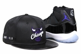"Chicago Bulls Jet Black Ballistic Nylon Faux Patent Concord Air Jordan XI ""Space Jam"" OG New Era Snapback"