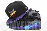 Chicago Bulls Jet Black Concord Custom Air Jordan VIII Aqua Matching New Era Fitted Cap