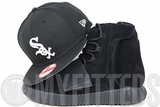 Chicago White Sox Jet Black Glacial White Adidas Yeezy Boost 750 Pirate Black New Era Snapback Hat