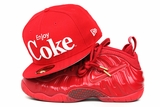 "Coca-Cola Enjoy Coke Scarlet Glacial White Classic Air Foamposite Pro ""Red October"" New Era Hat"