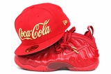"Coca-Cola Est. 1886 Scarlet Metallic Gold Classic Air Foamposite Pro ""Ruby Red Slippers"" New Era Hat"