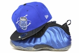 "Columbia Fireflies Club Royal Jet Black Glow in the Dark Air Foamposite One XX ""Royal"" New Era Fitted Cap"