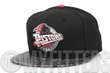 Detroit Pistons Jet Black Gunmetal Faux Snake Skin Infrared Bliss Glacial White Custom New Era Hat