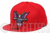 Diplomats Dipset Harlem World Big Eagle Logo Classic Scarlet Multi Color New Era Fitted Cap