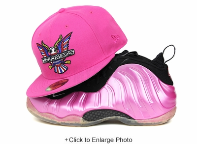 "Diplomats Dipset Harlem World Vibrant Pink Air Foamposite One ""Polarized Pink"" New Era Fitted Cap"