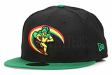Hawaii Rainbow Warriors Jet Black Lucky Green Official Team Color New Era Fitted Cap