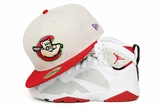 "Kane County Cougars Sandstone Scarlet Air Jordan VII ""Hare"" ""Bugs Bunny New Era Fitted Cap"