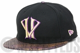 Kobe Bryant KB20 Hero Villain Snake Vize Jet Black Metallic Concord & Gold New Era Fitted Cap