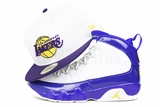 "Los Angeles Lakers Glacial White Concord Moonbeam Air Jordan IX ""Kobe PE"" New Era Fitted Cap"