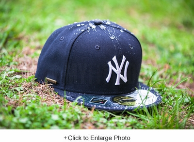 New York Yankees Gore-Tex® Membrane Waterproof Midnight Navy Classic Grey Brim New Era Fitted Cap