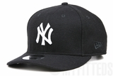New York Yankees Team Demanded Jet Black Melton Wool Pre-Curved Low-Profile New Era Snapback
