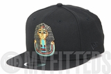 Pharaoh Egyptian King Tutankhamun Jet Black Metallic Gold Multi Color Original Fit New Era Snapback