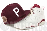 "Philadelphia Athletics 1915 World Series VS Boston Red Sox Air Jordan VI ""Maroon"" New Era Hat"