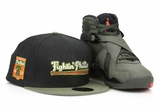 "Philadelphia Phillies 1950 Fightin' Phillies Jet Black Army Olive AIr Jordan VIII ""Sequoia"" New Era Hat"