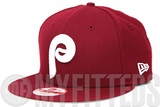 Philadelphia Phillies Russet Sunset Glacial White Classic 1980's Throwback New Era 9FIFTY Snapback Hat
