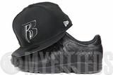 "Ruff Ryders Jet Black Glacial White Adidas EQT Running Cushion ""King Push"" Black New Era Fitted Cap"