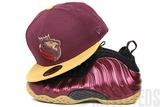 "Sacramento Kings Intense Maroon Birch Veneer Air Foamposite One ""Night Maroon"" New Era Hat"