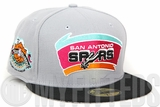 San Antonio Spurs 1996 NBA All Star Game Capper Placid Gray Jet Black New Era Fitted Cap