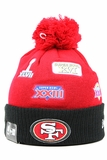 San Francisco 49ers Super Bowl Champions Team Patcher New Era Winter Pom Knit Skully