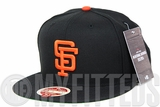"San Francisco Giants Jet Black Orangeade Heritage Series ""Bay Area Collection New Era Fitted Cap"