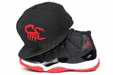 "Scottsdale Scorpions Jet Black Scarlet MiLB Air Jordan XI ""BRED"" Official New Era Fitted Cap"