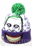 "Suicide Squad 2016 DC Comics File #001-S The Joker ""Why So Serious"" Pom Knit Skully Hat"