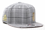 UFC Reebok Conor McGregor Plaid Tweed Suit Inspired VY73Z Light Grey Traditional Fit Snapback