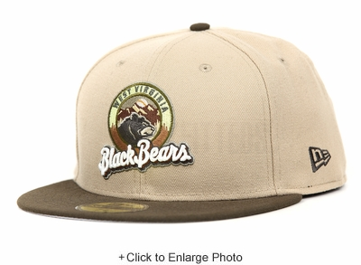 West Virginia Black Bears Steel Cut Oatmeal Mahogany Rolling Meadows New Era Fitted Cap