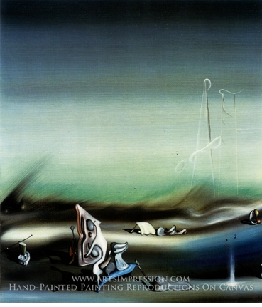 Painting reproduction of Paysage Surrealiste by Yves Tanguy