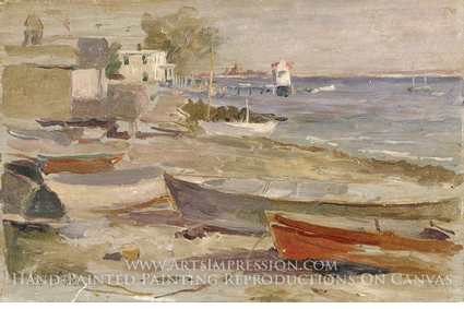 Painting reproduction of Shore at Orient, Long Island by Reynolds Beal