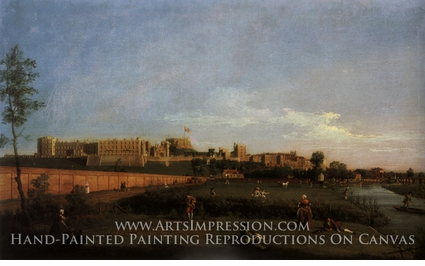 Painting reproduction of Windsor Castle by Canaletto