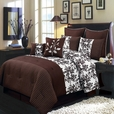 Bliss Chocolate Luxury 8-Piece comforter Set  Calking Size