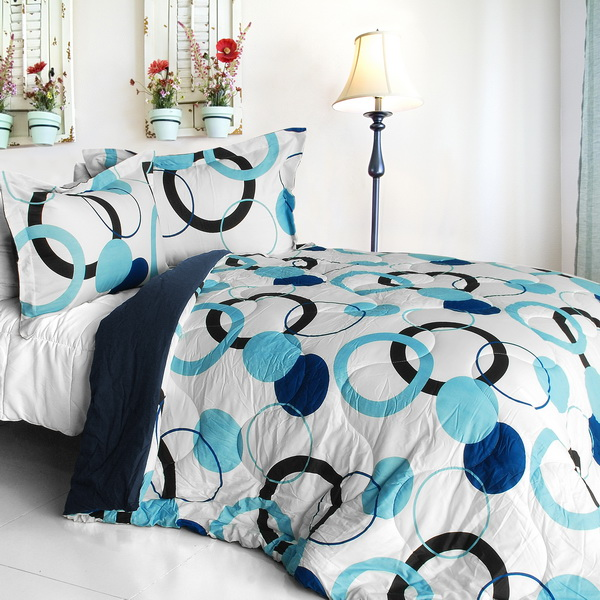 [Blue Bubble] Quilted Patchwork Down Alternative Comforter