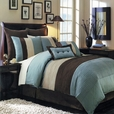 Blue Hudson Luxury 8-Piece comforter Set(Calking Size)