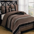 Claudia Coffee 11-Piece Comforter Set Calking Size