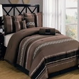 Claudia Coffee 7-Piece Comforter Set Calking Size