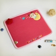 [Fly To The Moon] Embroidered Applique Fabric Art Mouse Pad / Mouse Mat / Mousing Surface (10.3*8.8)
