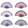 Foldable Raw Silk Printing Folding Fan FS008-ROSE-GOLD-GLITTER-MIXED-4PC