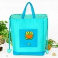 [Frog Prince] Embroidered Applique Kids HangBag / Drawstring Bag / Bucket Bag (9.8*11*3)