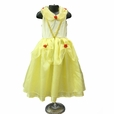 Girls Deluxe Yellow Beauty Quality Dress Up Costume
