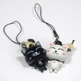 [Happy Cat-1] - Cell Phone Charm Strap / Camera Charm Strap / Handbags Charms (Set of 2)