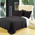 Luxury Black Checkered Quilted Wrinkle Free Microfiber 2 Piece Coverlets Set Twin/Twin XL