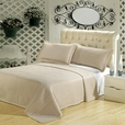 Luxury Linen ( Beige) Checkered Quilted Wrinkle Free Microfiber 2 Piece Coverlets Set Twin/Twin XL