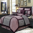 Morgan Purple Luxury 8-Piece Comforter Set Olympic Queen / European Size